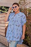 Модная женская рубашка,ткань коттон,размеры:52,54,56., фото 2