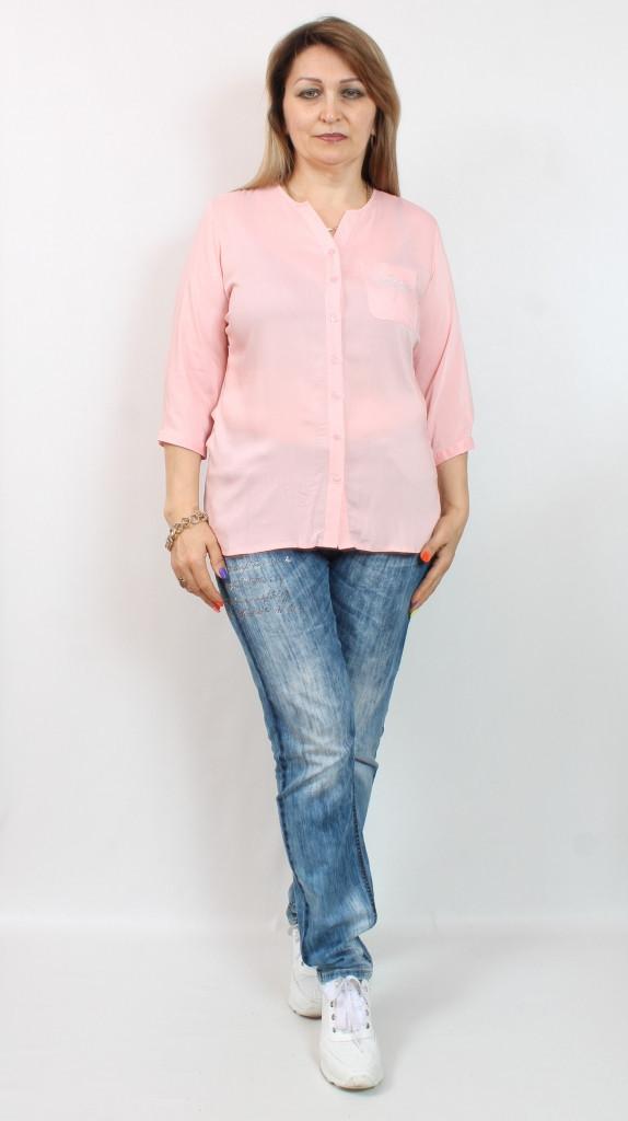 Турецкая летняя женская рубашка больших размеров 48-62
