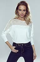 Блуза Katie Eldar цвета экри. Коллекция осень-зима 2019-2020