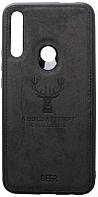 Чехол-накладка TOTO Deer Shell With Leather Effect Case Huawei P Smart Z Black