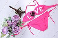 Детский розовый раздельний купальник(10-16 лет)