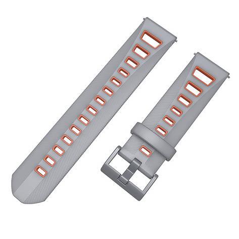 Ремешок BeColor силиконовый для Samsung Gear S3 Серо-Красный (1021943), фото 2