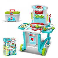 Детский игровой набор Доктора 008-929 тележка, инструменты, чемодан