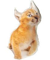Подушка котенок Рыжик 28 х 50 см 98-972583, КОД: 142036