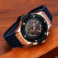 Стильные Часы Hublot Big Bang Depeche Mode Blue-Gold-Blue