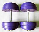 """Гантели наборные """"Титан ПРО"""" 2 шт по 20 кг с блинами 5 кг, фото 2"""