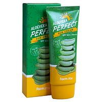 Farmstay Aloevera Perfect Sun Cream SPF50+ PA+++ Солнцезащитный крем с алоэ, 70мл