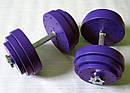 """Гантели наборные """"Титан ПРО"""" 2 шт по 20 кг с блинами 5 кг, фото 5"""