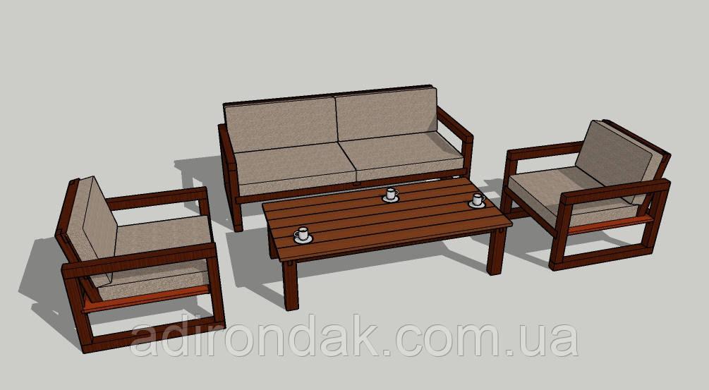 Набор садовой мебели модерн / Modern furniture set