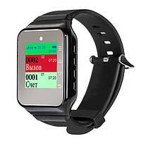 Пейджер–часы официанта с цветным экраном R-02ВC Black Recs USA
