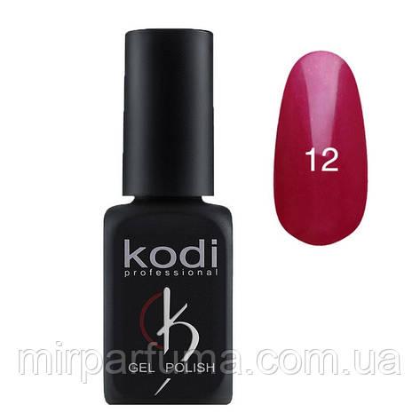 Гель лак KODI №012 малиновый с перламутром 12 мл, фото 2