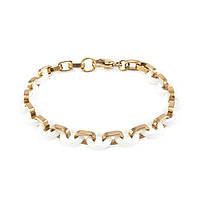 Керамический браслет круглые звенья 17-20 см Бело-золотистый BS010CR, КОД: 973786
