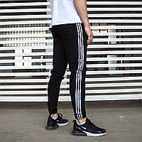 Спортивні штани чоловічі чорні бренд Адидас (Adidas) розмір  S, M, L