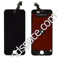 Дисплей iPhone 5C с тачскрином в сборе, цвет черный, высокое качество