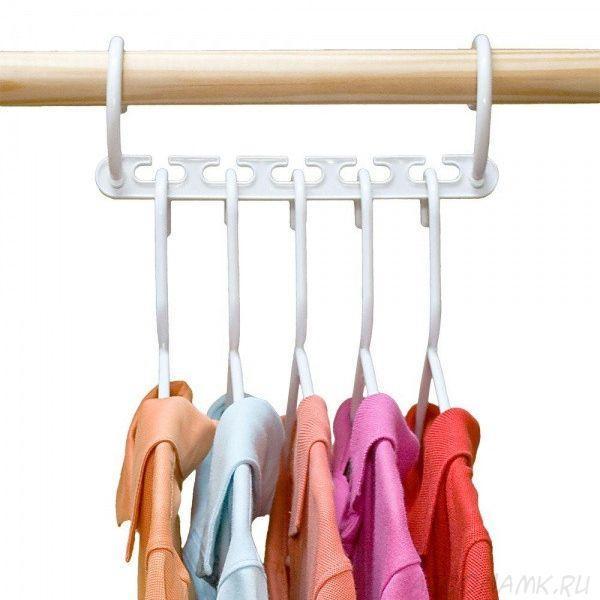 🔥 Универсальная вешалка для одежды Wonder Hanger - 5 одежд на одной вешалке