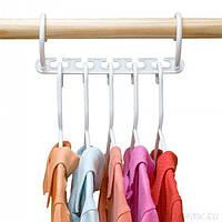 🔥 Универсальная вешалка для одежды Wonder Hanger - 5 одежд на одной вешалке, фото 1