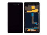 Дисплей Sony Xperia Z1 (C6902, C6903, C6906, C6943, L39h) с тачскрином в сборе в рамке, цвет черный