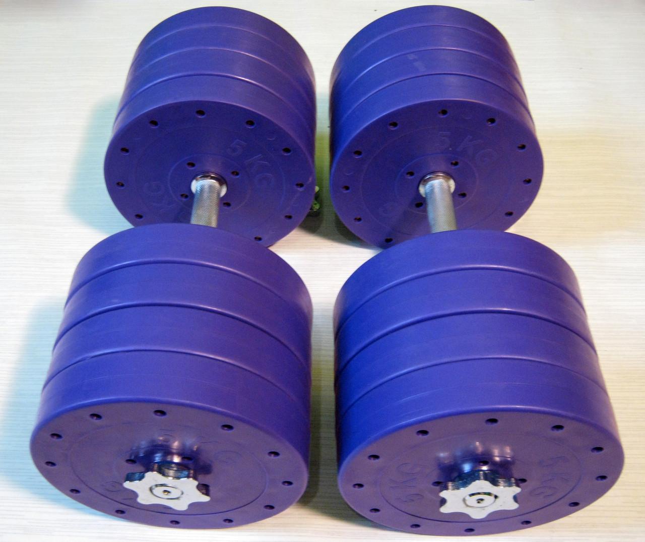 """Гантели наборные """"Титан ПРО"""" 2 шт по 42 кг с блинами 5 кг"""