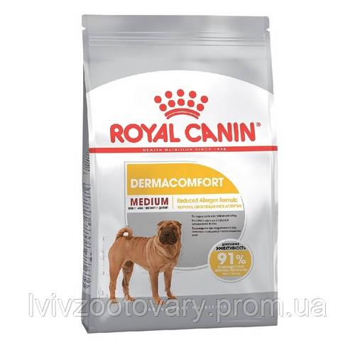 Корм для собак (Роял Канін) Royal Canin Medium Dermacomfort 10 kg - для середніх порід з проблемами шкіри
