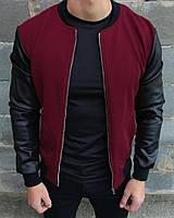 Куртка мужская бордовая. Бомбер мужской весенний. ТОП КАЧЕСТВО!!!, фото 1