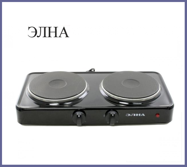 """Электроплита """"Элна"""" (2 диска)"""