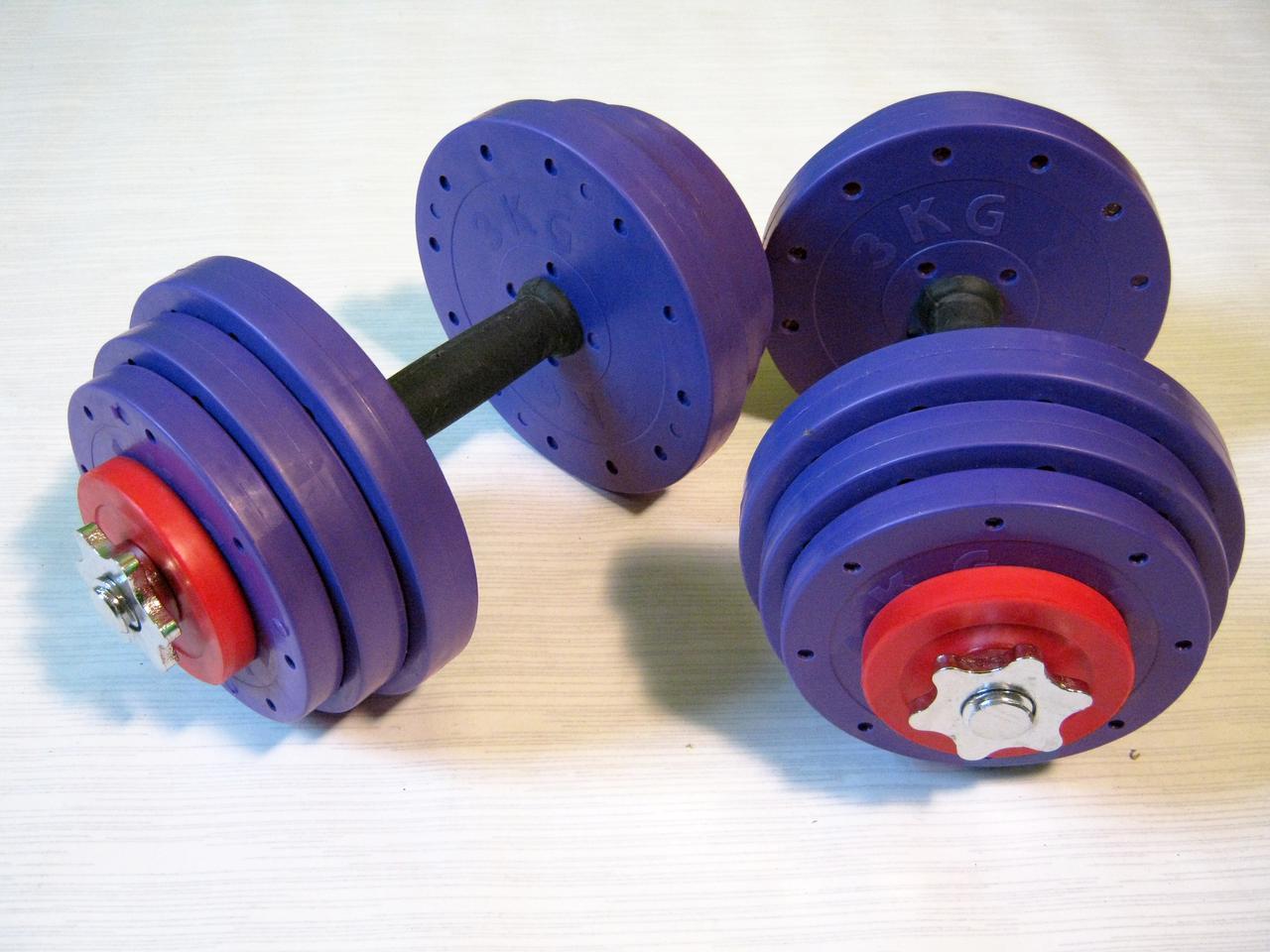 """Гантели наборные """"Титан ПРО"""" 2 шт по 14 кг с обрезиненной рукояткой"""