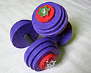 """Гантели наборные """"Титан ПРО"""" 2 шт по 14 кг с обрезиненной рукояткой, фото 2"""