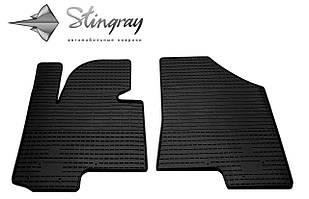 Kia Sportage III 2010- Комплект из 2-х ковриков Черный в салон