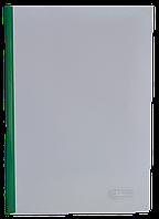 Папка-скоросшиватель с прижимной планкой 6 мм Buromax зелёная
