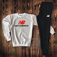 Спортивный костюм мужской в стиле New Balance black-white | весенний