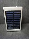 Power Bank Samsung 30000 mAh (Солнечная зарядка + LED фонарь) Серебро, фото 3