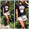 Женская футболка с принтом в расцветках. АР-8-0719, фото 3