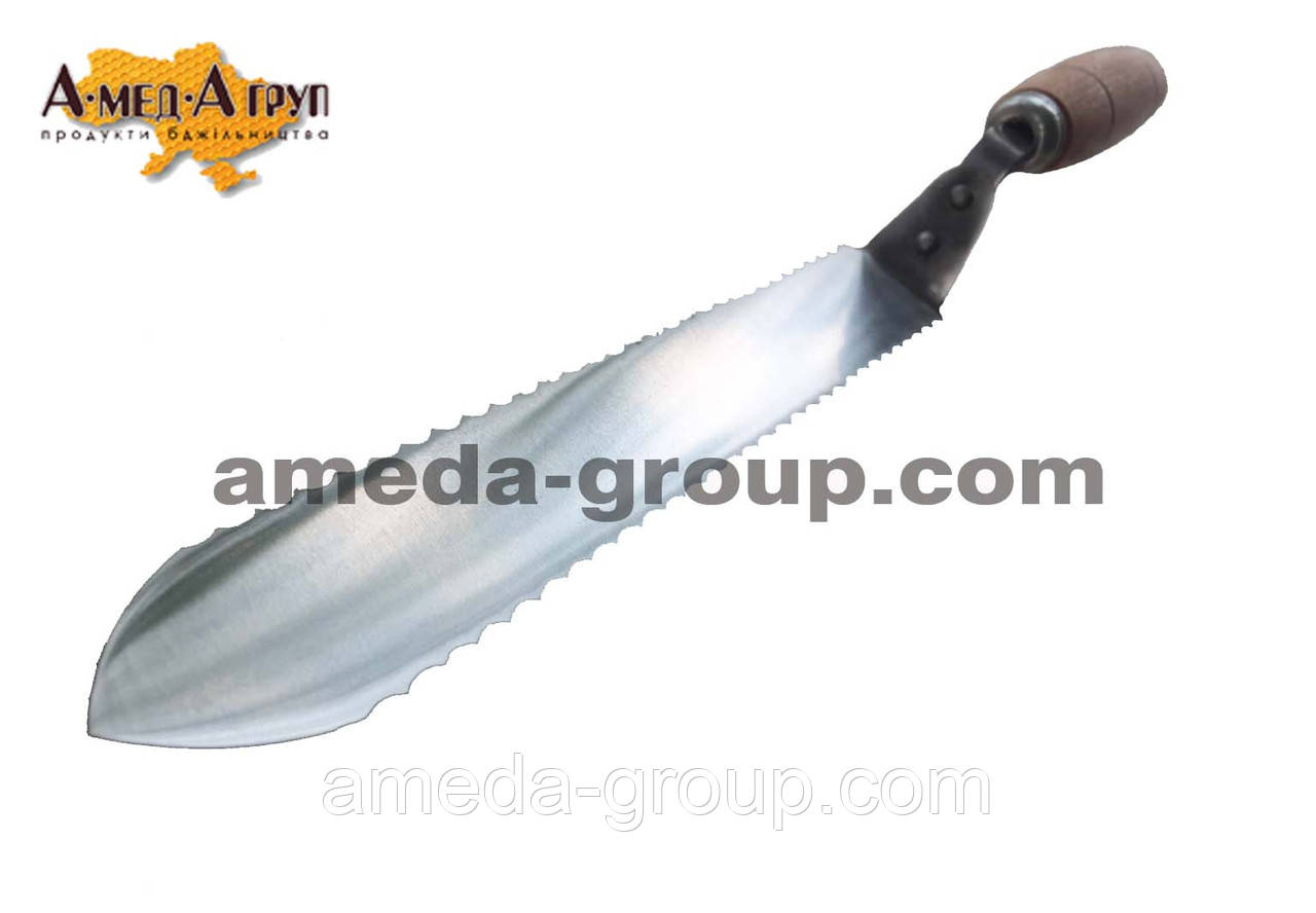 Нож пчеловодный зубчатый 205 мм нержавейка