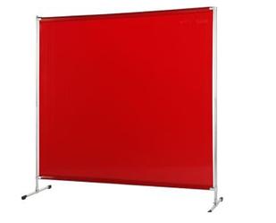 Екран Cepro Gazelle 2000х2000 мм з червоною захисної шторою Orange-CE 1700х2000х0.4 мм