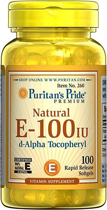 Natural E-100 IU (100 softgels) Puritan's Pride