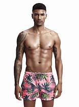 Чоловічі пляжні Короткі шорти для купання Seobean Пальма (Кишеню) \ Короткі Чоловічі пляжні шорти, фото 2