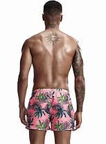 Чоловічі пляжні Короткі шорти для купання Seobean Пальма (Кишеню) \ Короткі Чоловічі пляжні шорти, фото 3