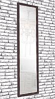 Зеркало настенное Factura в пластиковом багете Dark brown 45х169 см коричневое