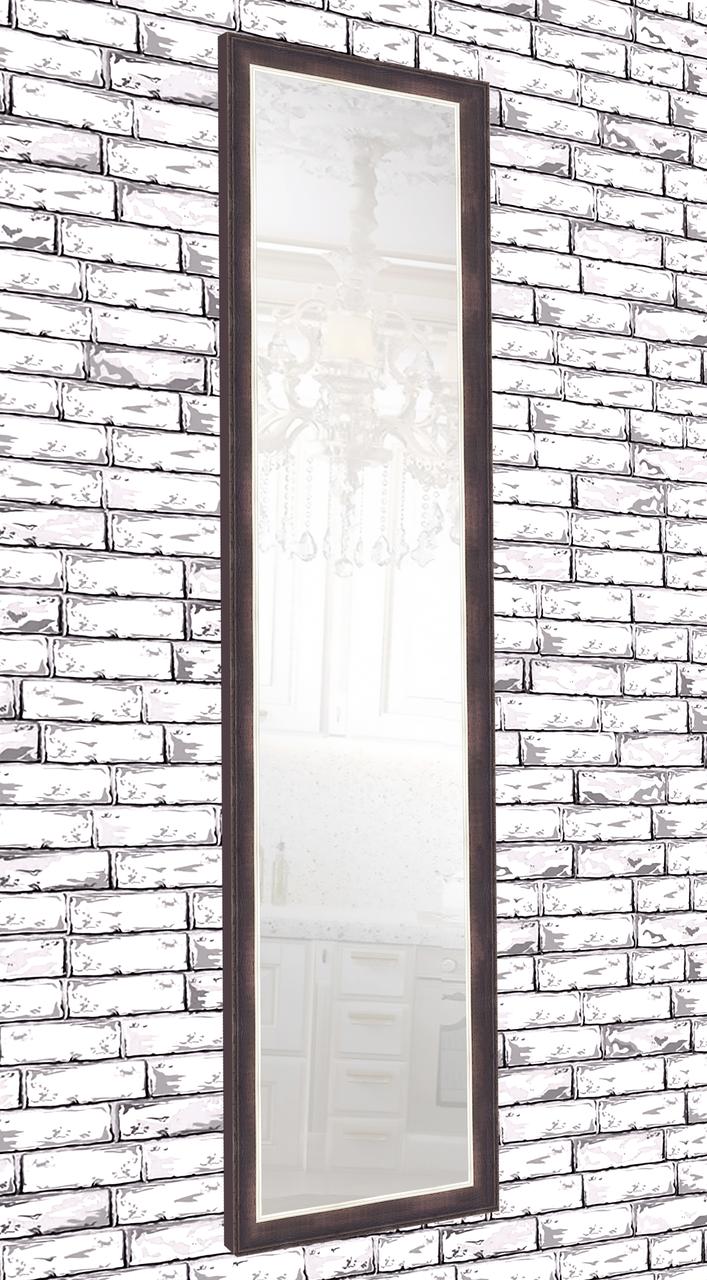 Зеркало настенное в раме Factura Dark brown 45х169 см коричневое