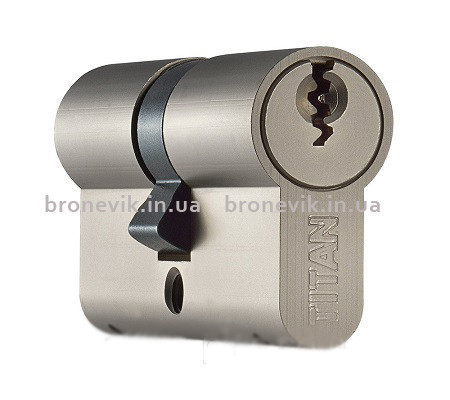 Цилиндр Titan K1 A 100 мм (45х55) никель-сатин ключ/ключ