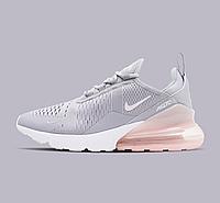 Nike Air Max 270 pink grey | кроссовки женские; летние; розовые-серые