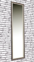 Зеркало настенное в раме Factura Brown 45х169 см коричневое, фото 1