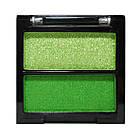Тени для Век Meis MS-0202 Двухцветные Салатовые и Зеленые Атласные Компактные Тон 06, фото 3