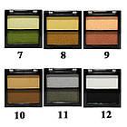 Тени для Век Meis MS-0202 Двухцветные Салатовые и Зеленые Атласные Компактные Тон 06, фото 6