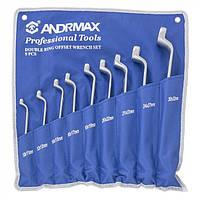 Набор ключей накидных, 9 предметов ANDRMAX
