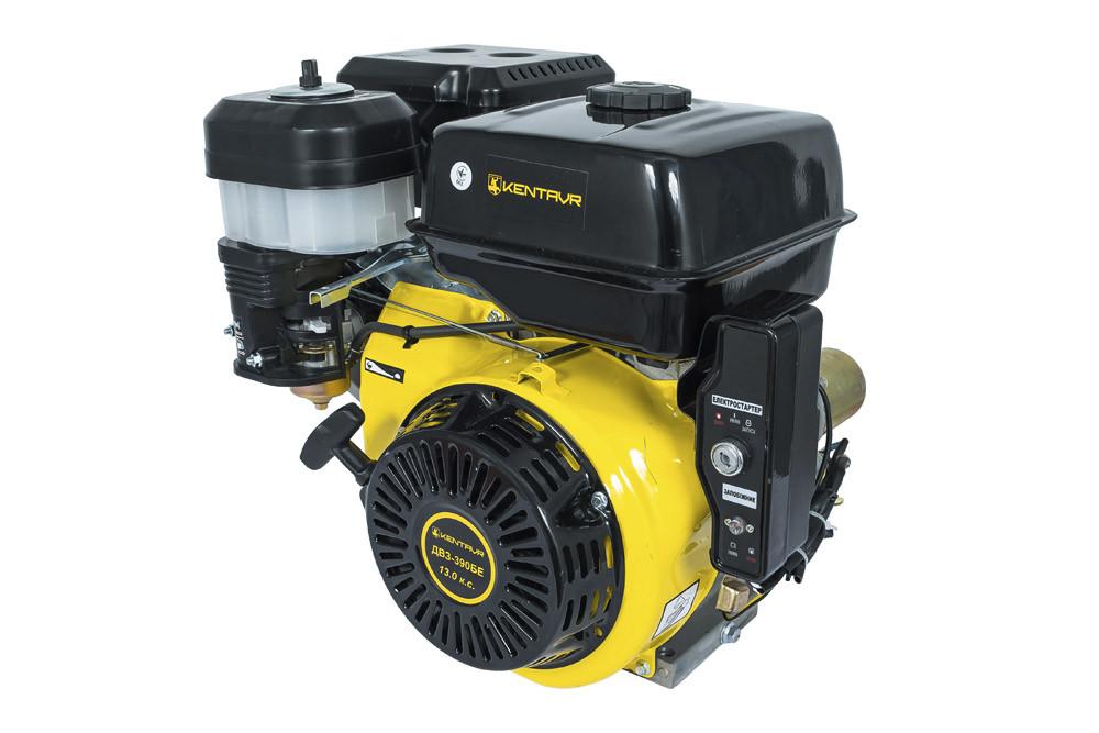 Двигун бензиновий Кентавр ДВЗ-390БЕ (13 к. с., шпонка, вал 25мм, електростарт)
