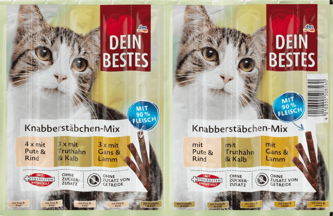 Закусочные палочки для кошек, микс с 90% мяса Dein Bestes, 50 гр.