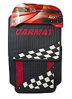 Комплект универсальных резиновых ковриков в салон автомобиля