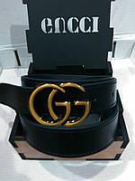 Кожаный ремень с пряжкой в стиле Gucci (Гуччи) 30