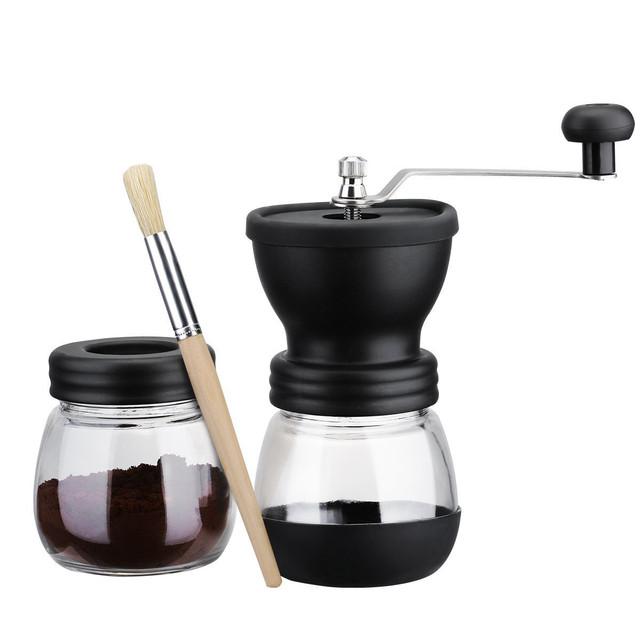 ручная кофемолка для кофе с бункером